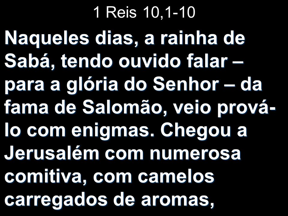 1 Reis 10,1-10