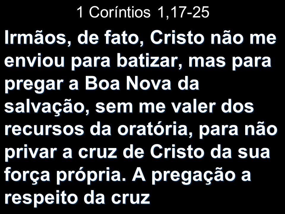 1 Coríntios 1,17-25