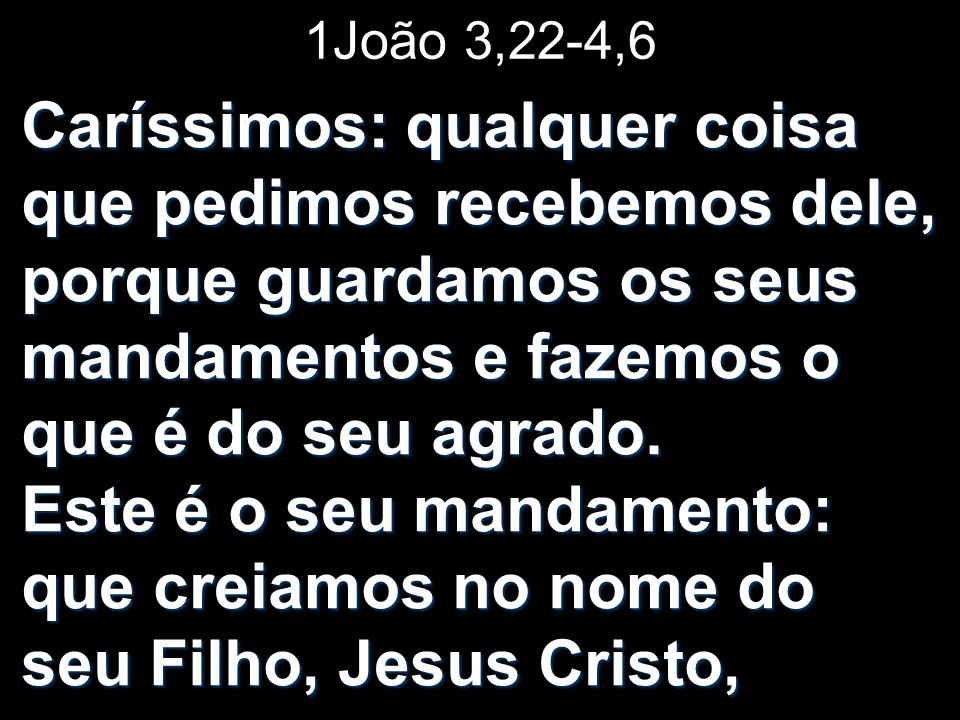 1João 3,22-4,6