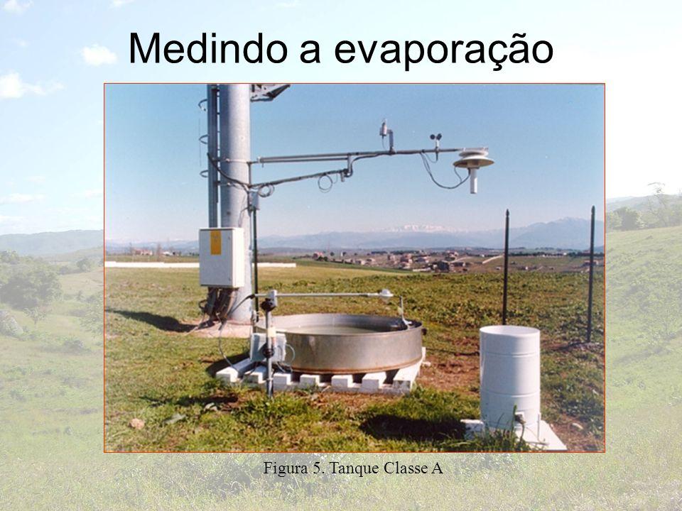 Medindo a evaporação Figura 5. Tanque Classe A