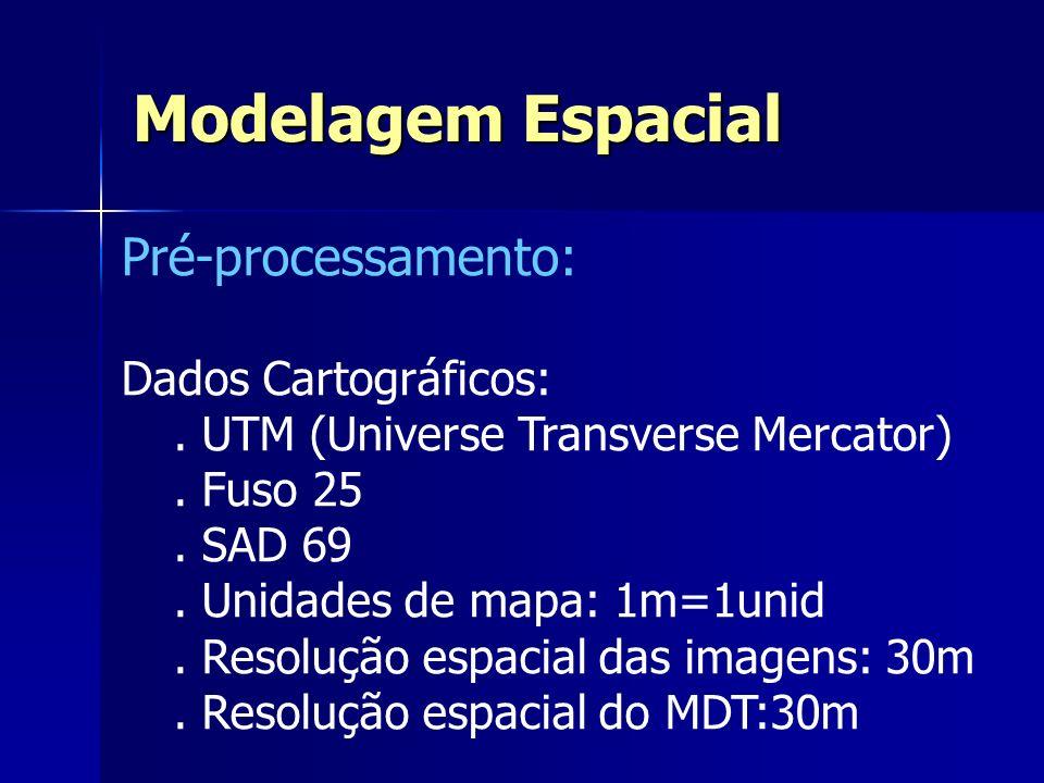 Modelagem Espacial Pré-processamento: Dados Cartográficos: