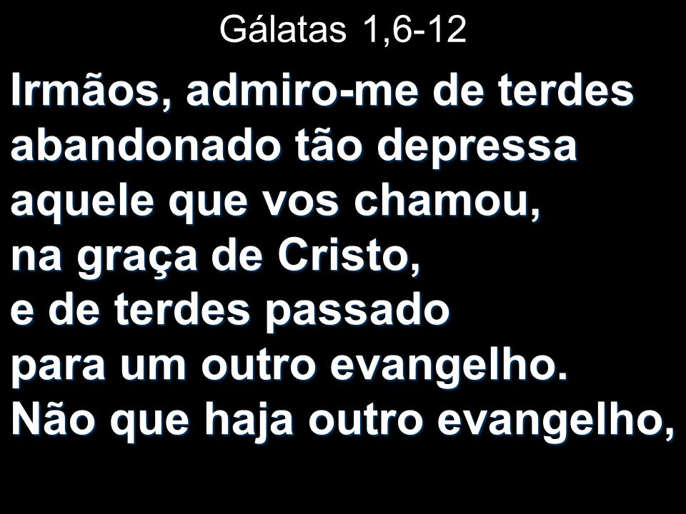 Gálatas 1,6-12