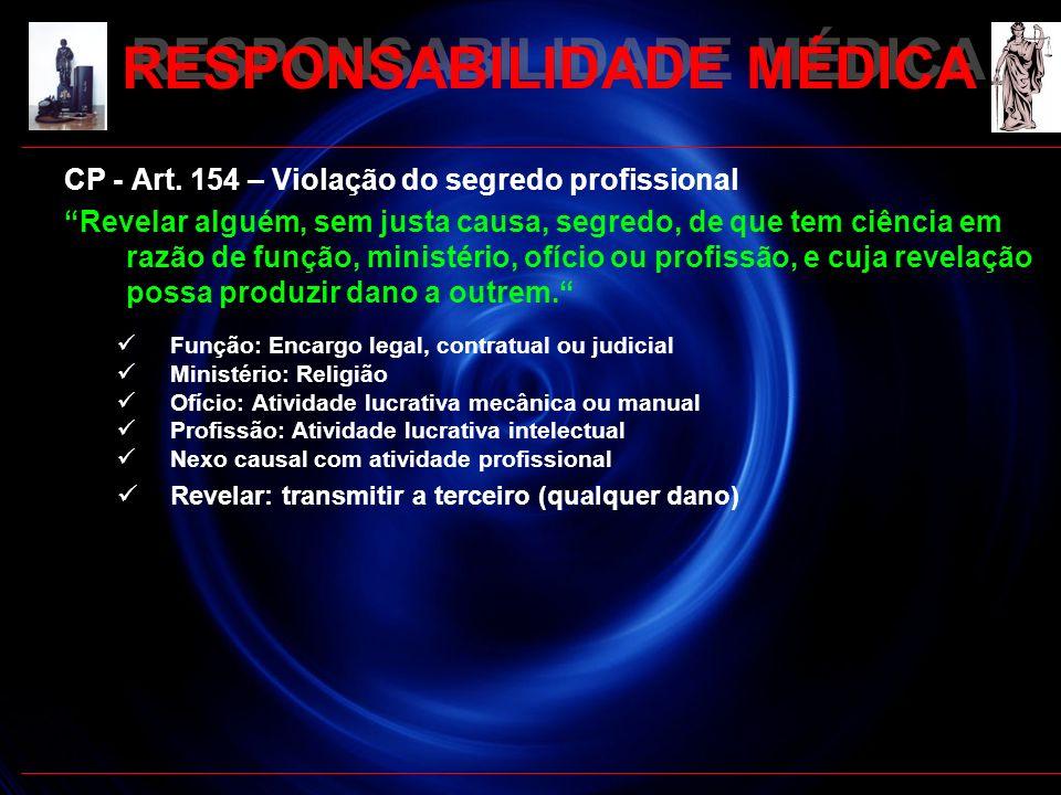 RESPONSABILIDADE MÉDICA
