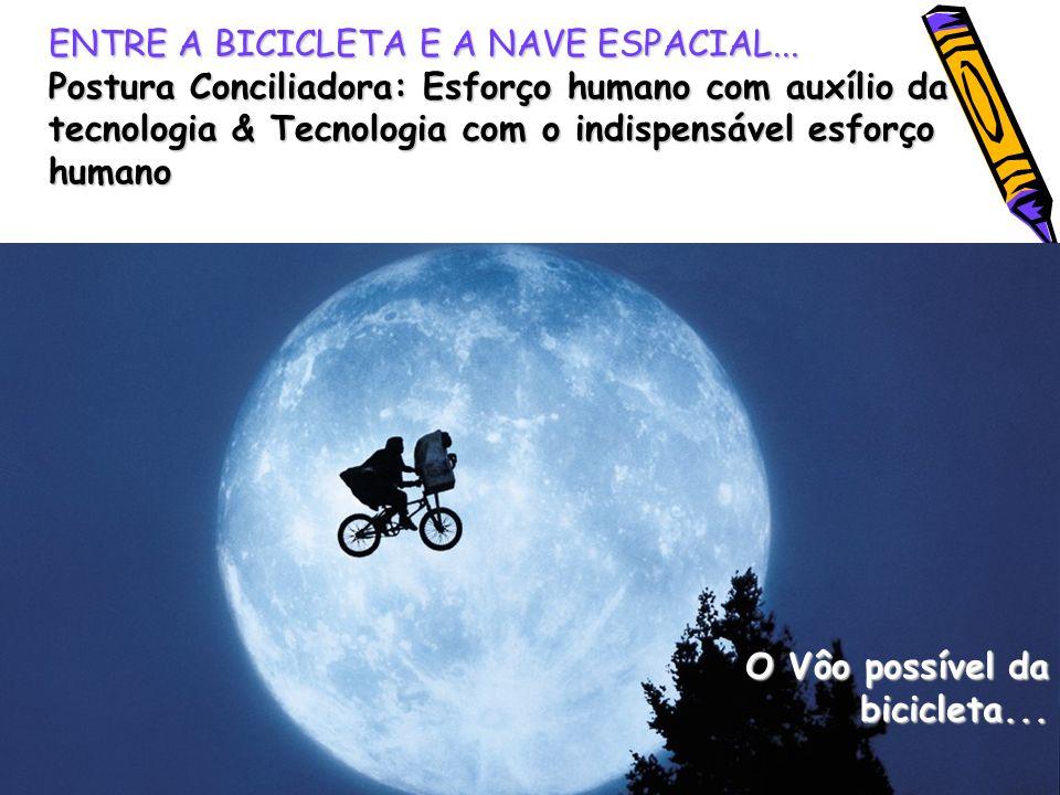 ENTRE A BICICLETA E A NAVE ESPACIAL