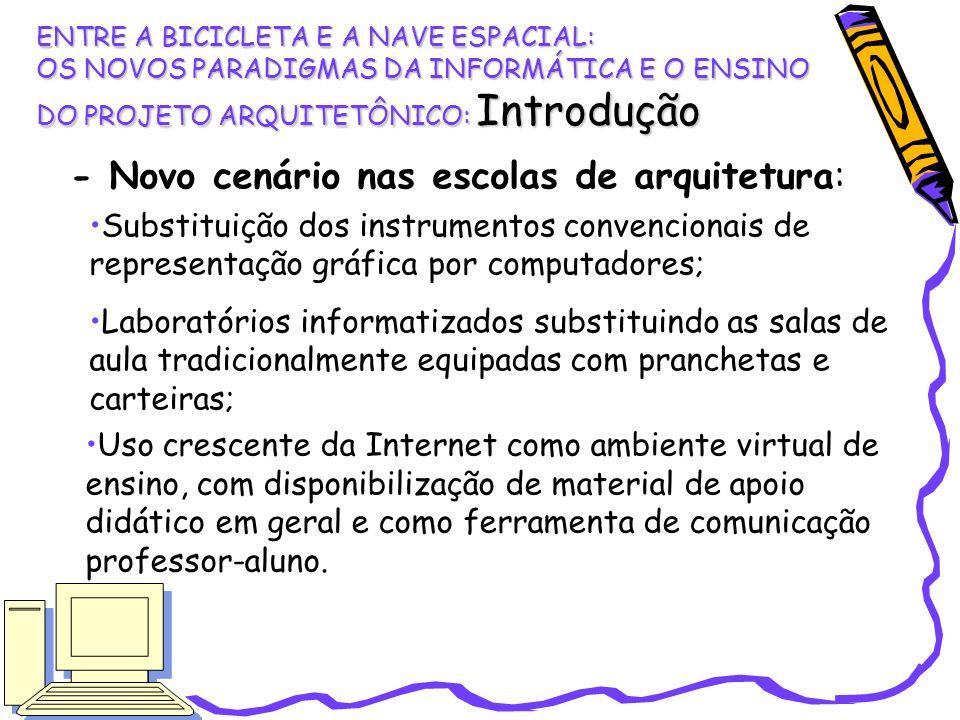 - Novo cenário nas escolas de arquitetura:
