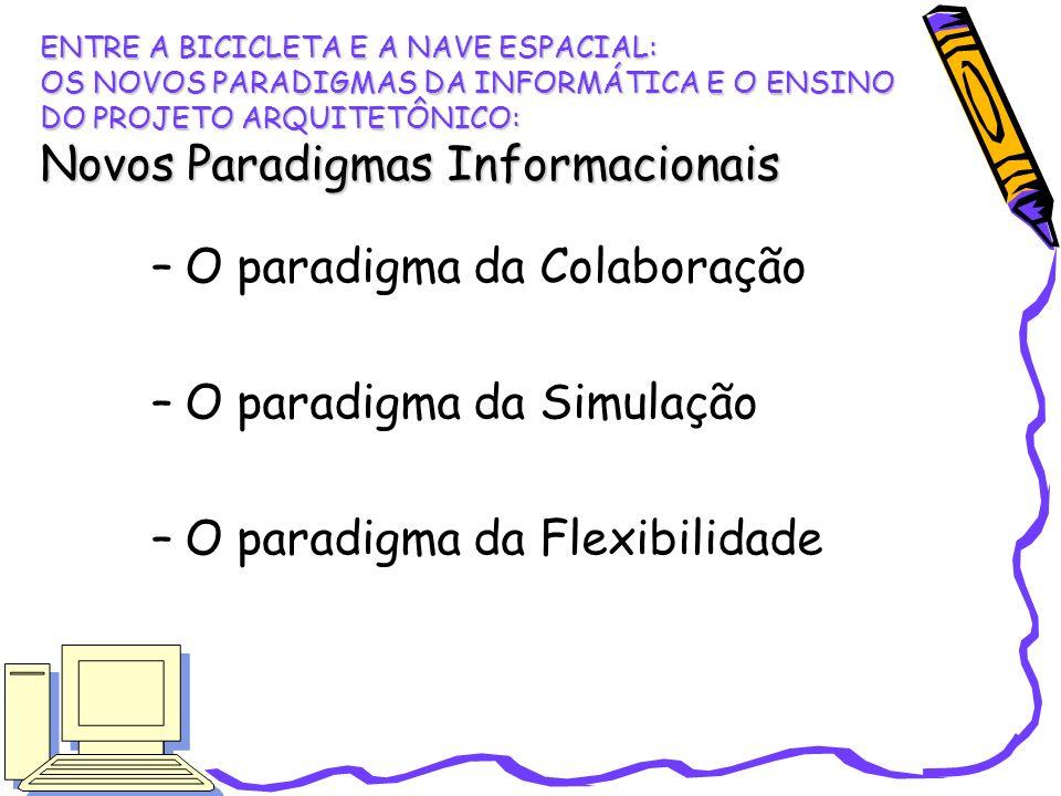 O paradigma da Colaboração O paradigma da Simulação