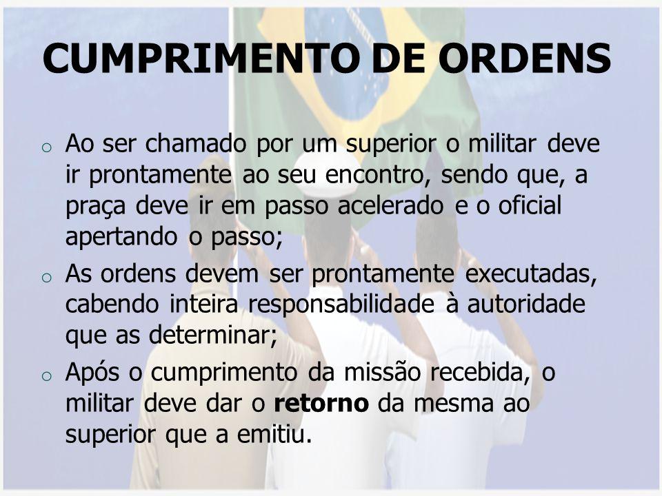 CUMPRIMENTO DE ORDENS