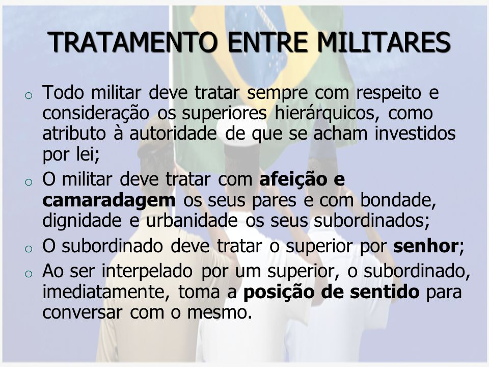 TRATAMENTO ENTRE MILITARES
