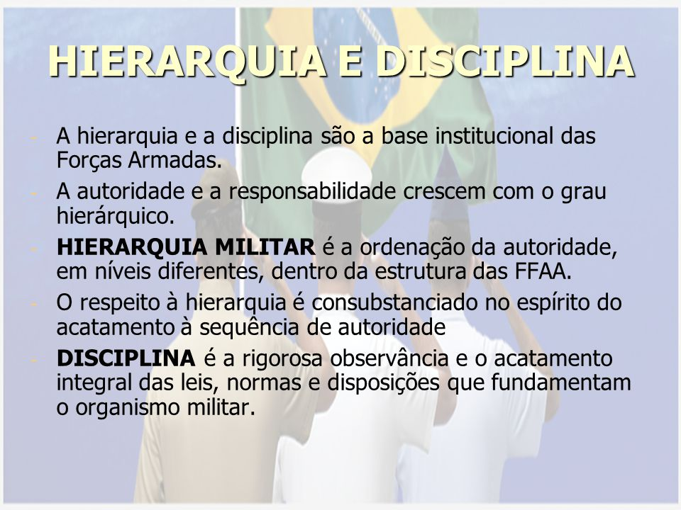HIERARQUIA E DISCIPLINA