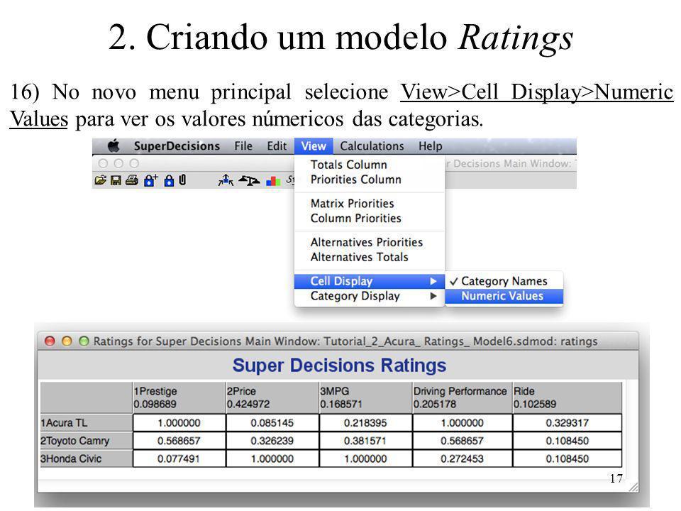 2. Criando um modelo Ratings