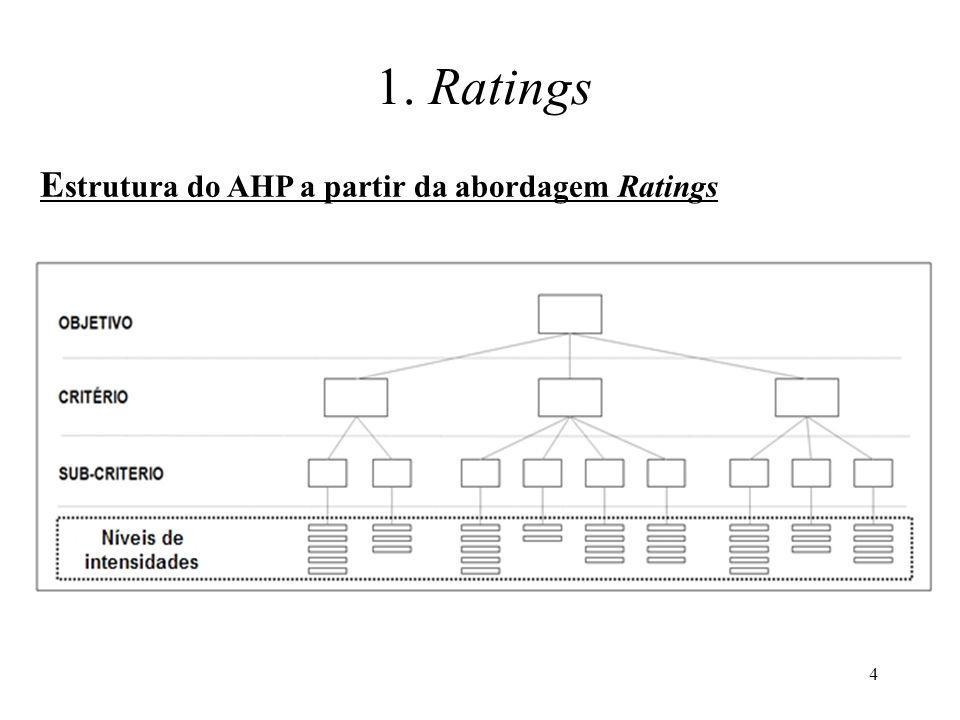 1. Ratings Estrutura do AHP a partir da abordagem Ratings