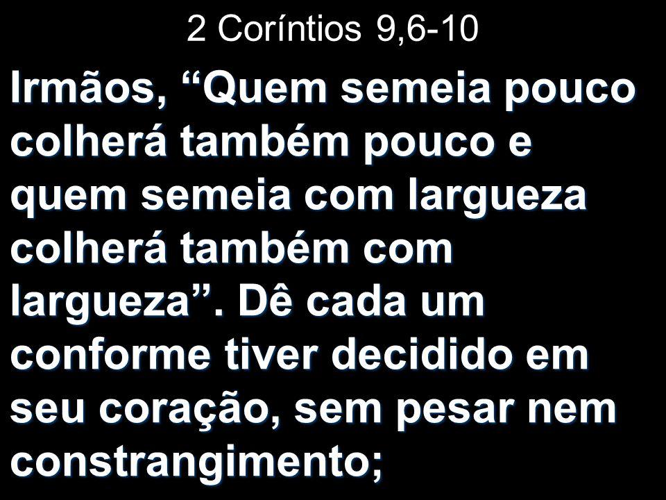 2 Coríntios 9,6-10