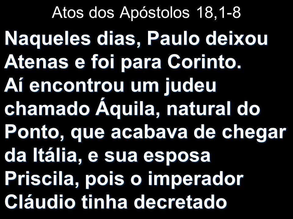 Atos dos Apóstolos 18,1-8