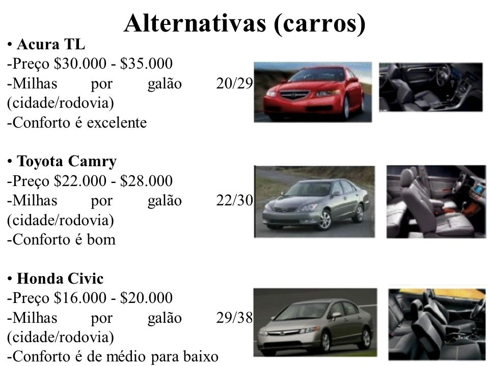 Alternativas (carros)