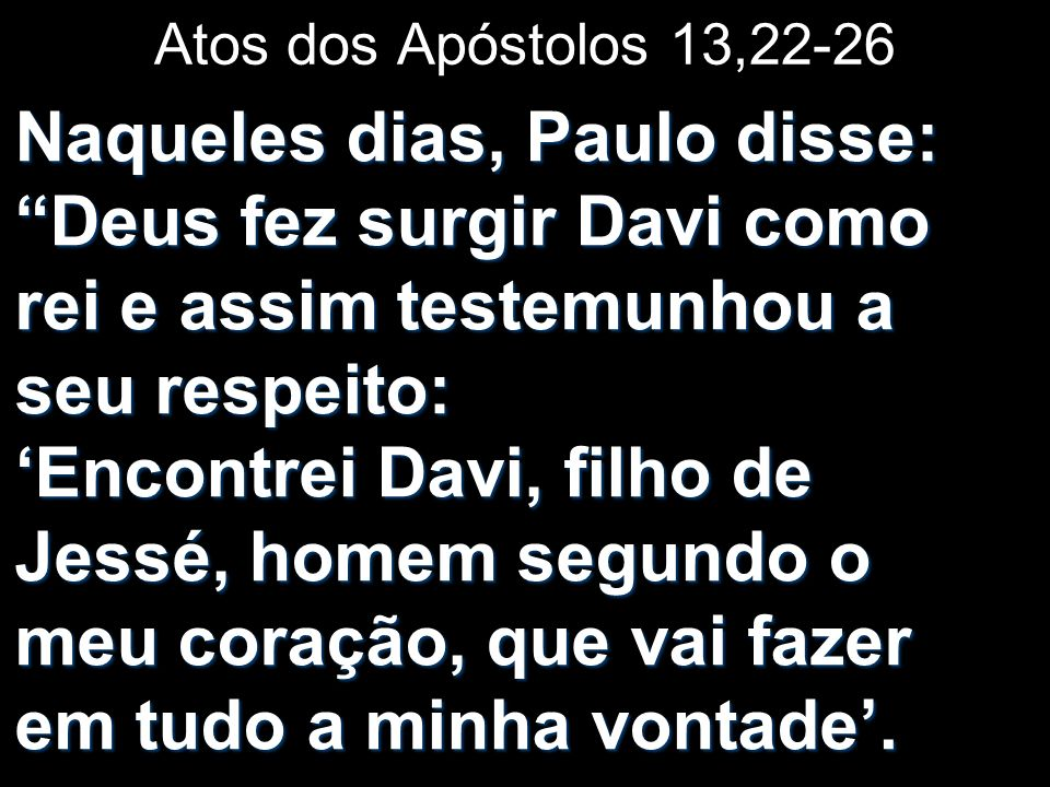 Atos dos Apóstolos 13,22-26