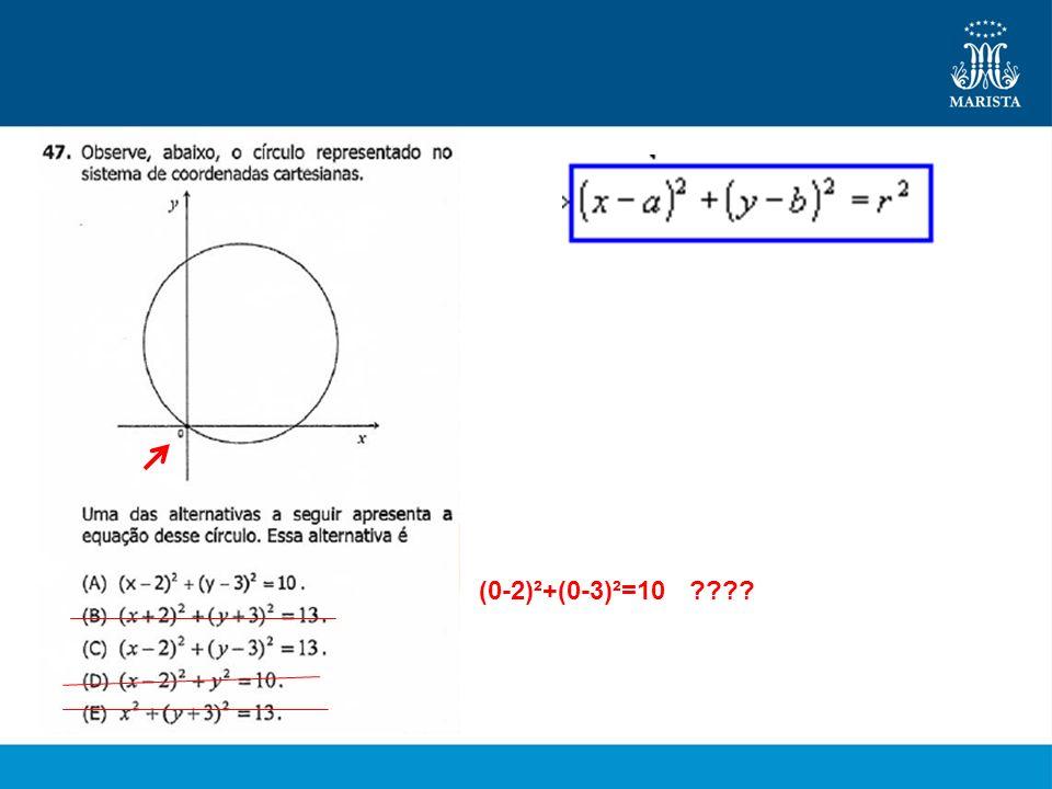 (0-2)²+(0-3)²=10