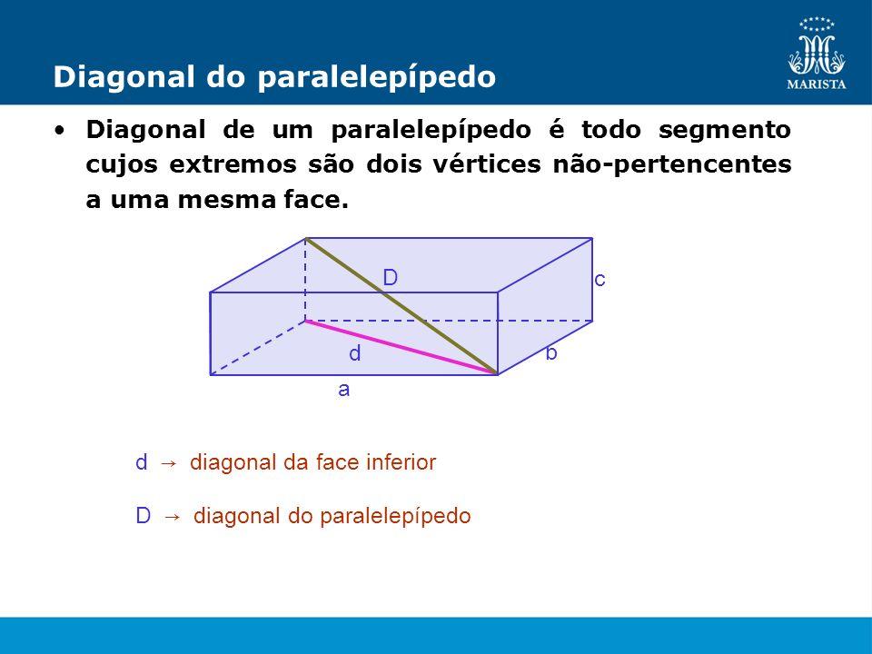 Diagonal do paralelepípedo
