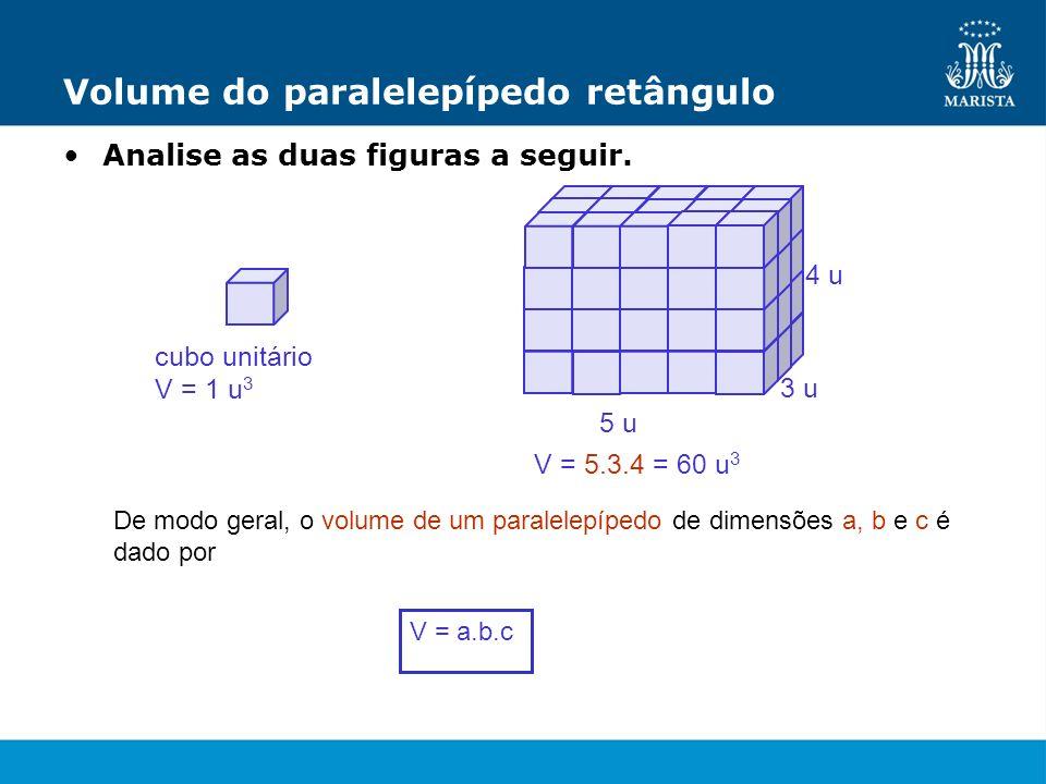 Volume do paralelepípedo retângulo