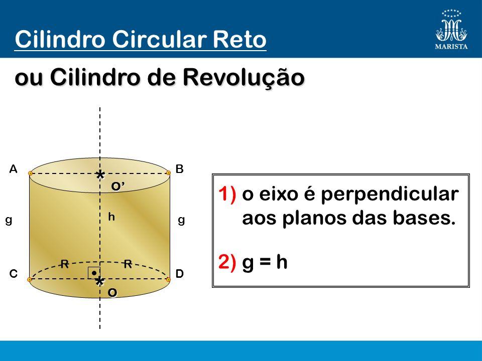 * * Cilindro Circular Reto ou Cilindro de Revolução