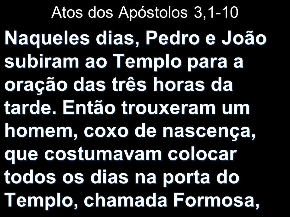 Atos dos Apóstolos 3,1-10