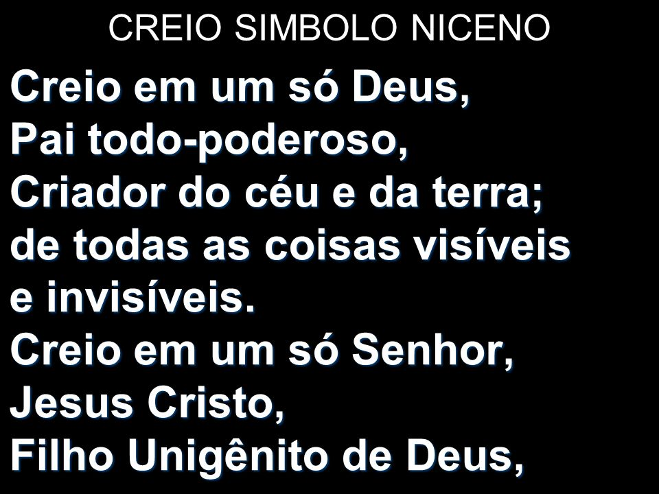 CREIO SIMBOLO NICENO
