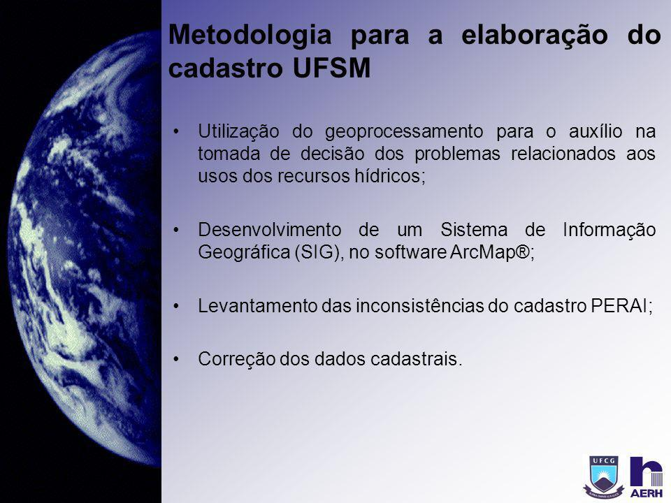 Metodologia para a elaboração do cadastro UFSM