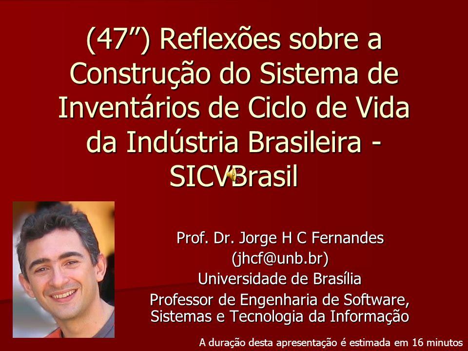 (47 ) Reflexões sobre a Construção do Sistema de Inventários de Ciclo de Vida da Indústria Brasileira - SICVBrasil