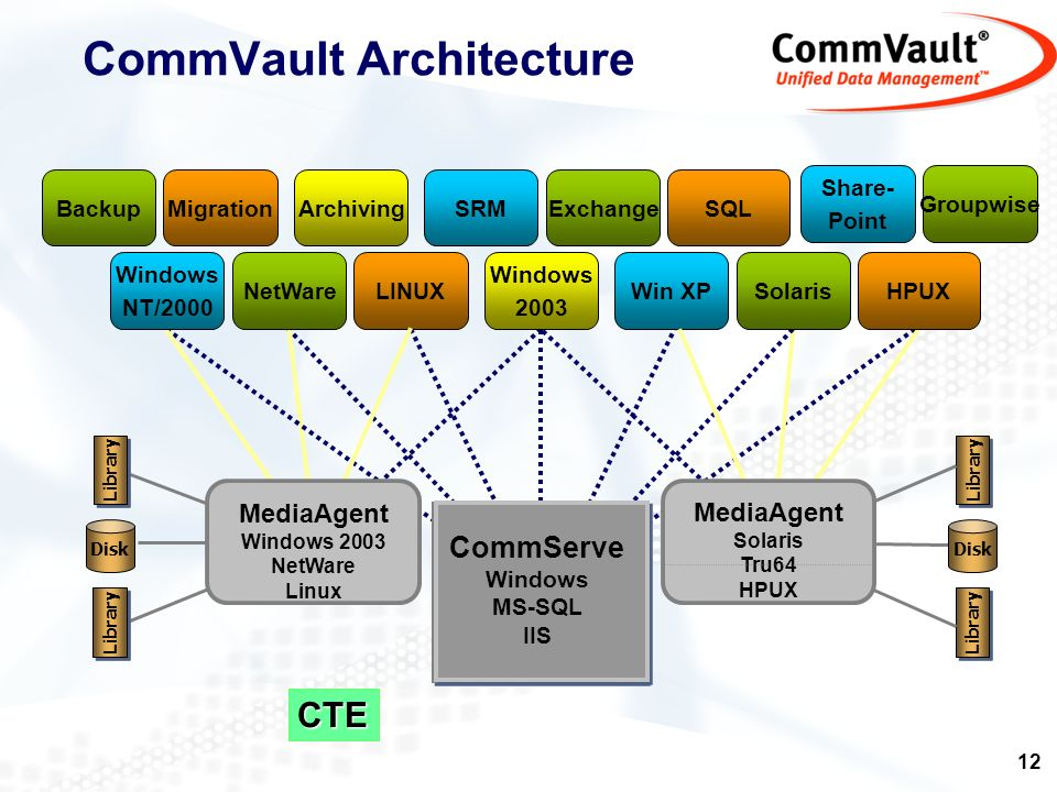 CommVault Architecture