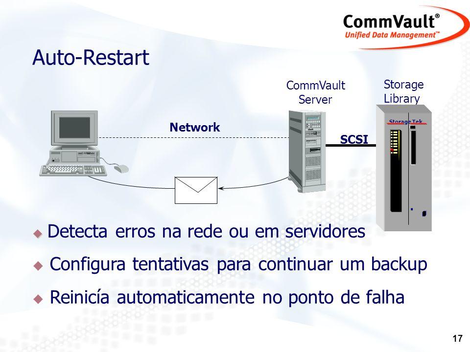 Auto-Restart Configura tentativas para continuar um backup