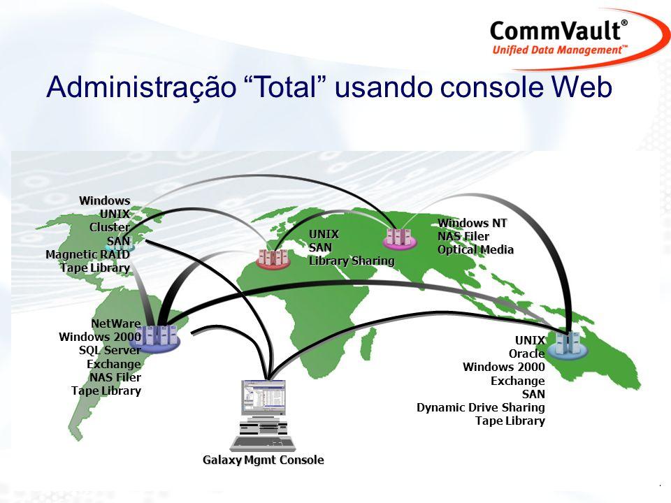 Administração Total usando console Web