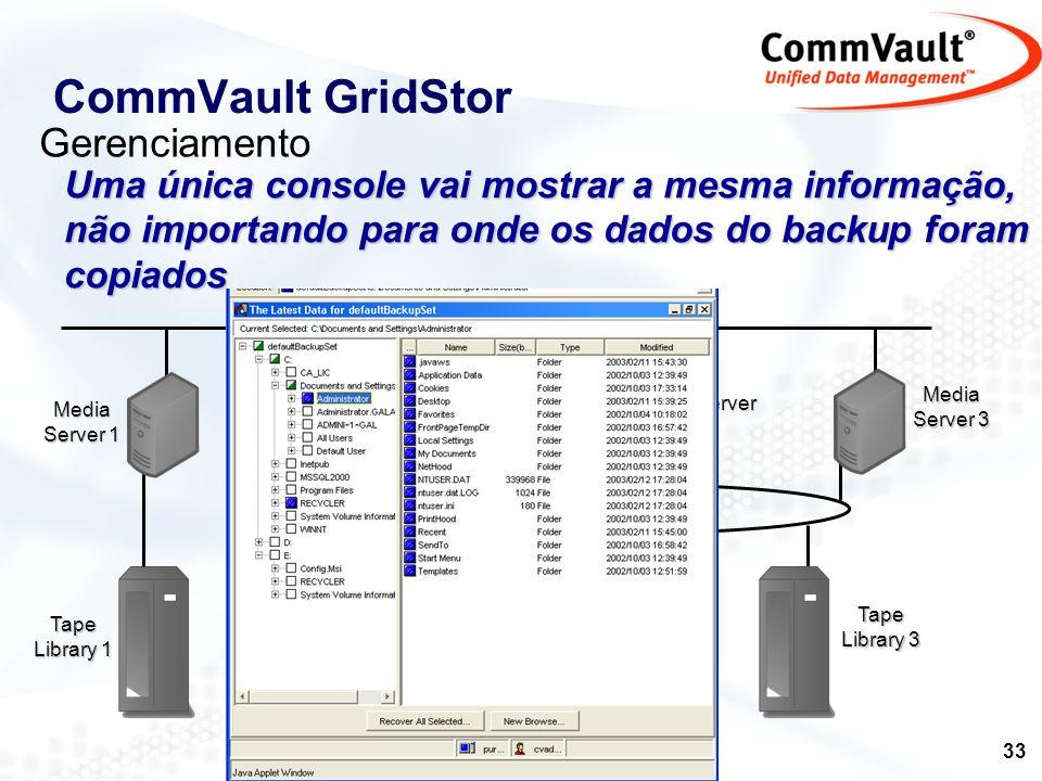 CommVault GridStor Gerenciamento