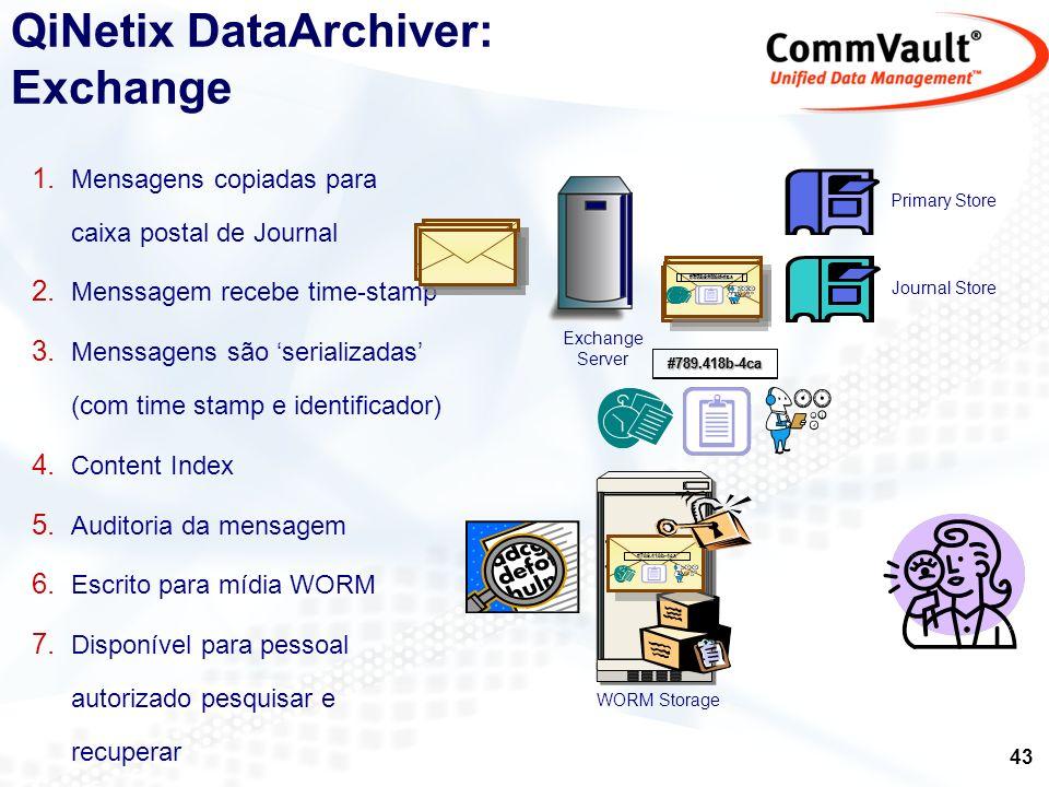 QiNetix DataArchiver: Exchange