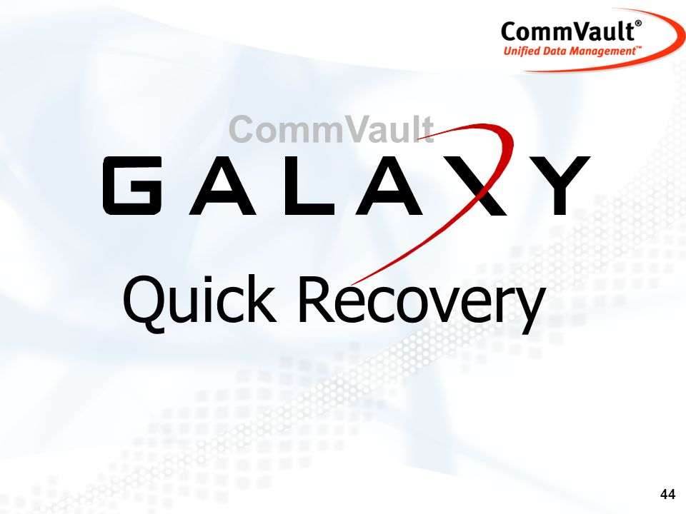 CommVault Quick Recovery