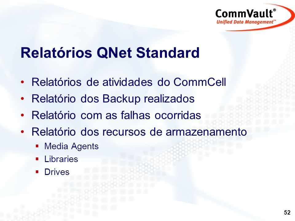Relatórios QNet Standard