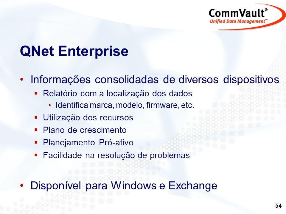 QNet Enterprise Informações consolidadas de diversos dispositivos