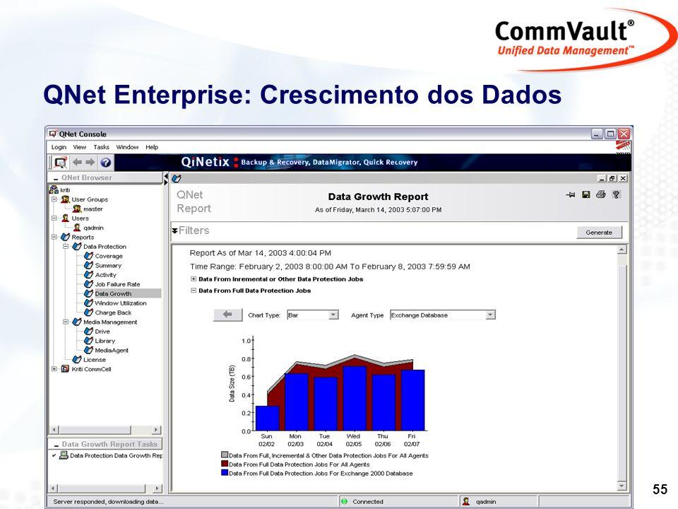 QNet Enterprise: Crescimento dos Dados
