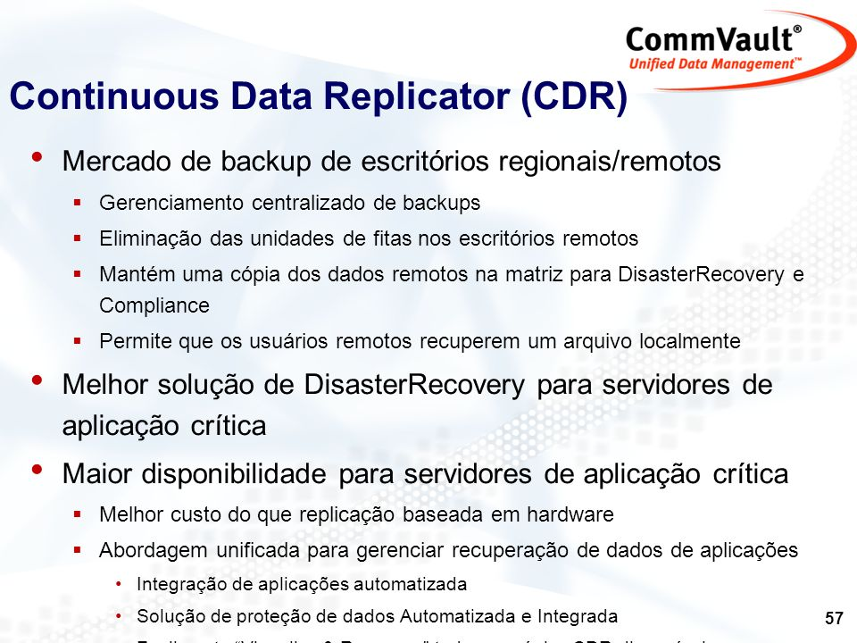 Continuous Data Replicator (CDR)
