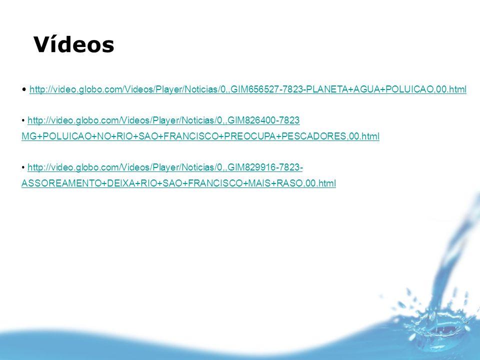 Vídeoshttp://video.globo.com/Videos/Player/Noticias/0,,GIM656527-7823-PLANETA+AGUA+POLUICAO,00.html.