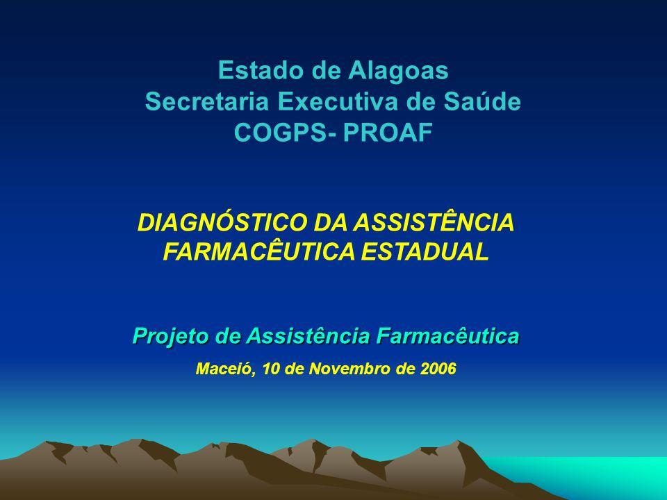 Estado de Alagoas Secretaria Executiva de Saúde COGPS- PROAF