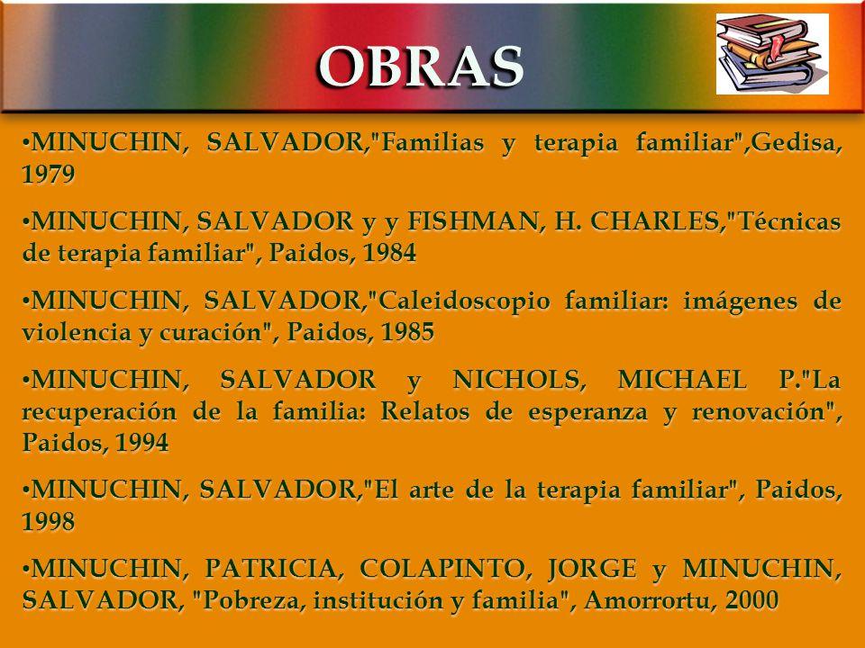 OBRAS MINUCHIN, SALVADOR, Familias y terapia familiar ,Gedisa, 1979