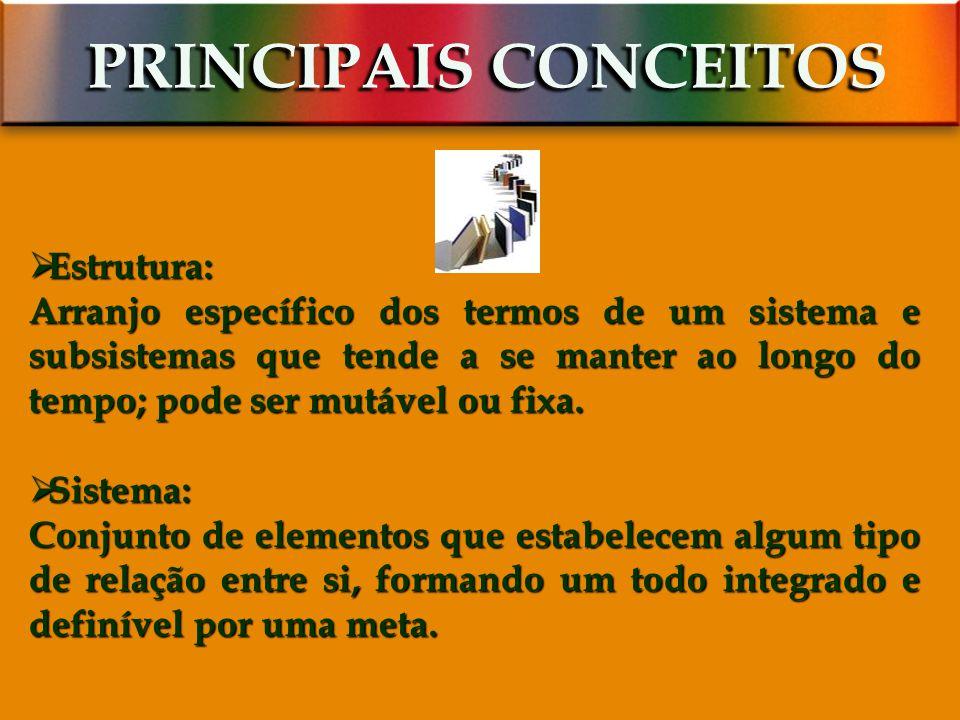 PRINCIPAIS CONCEITOS Estrutura: