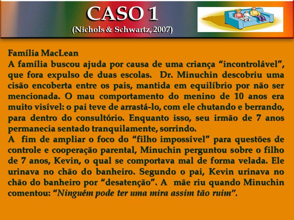 CASO 1 (Nichols & Schwartz, 2007) Família MacLean.