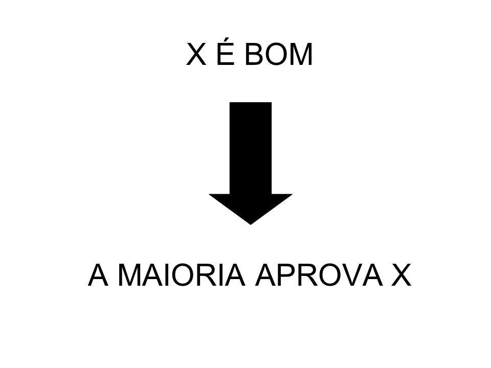 X É BOM A MAIORIA APROVA X