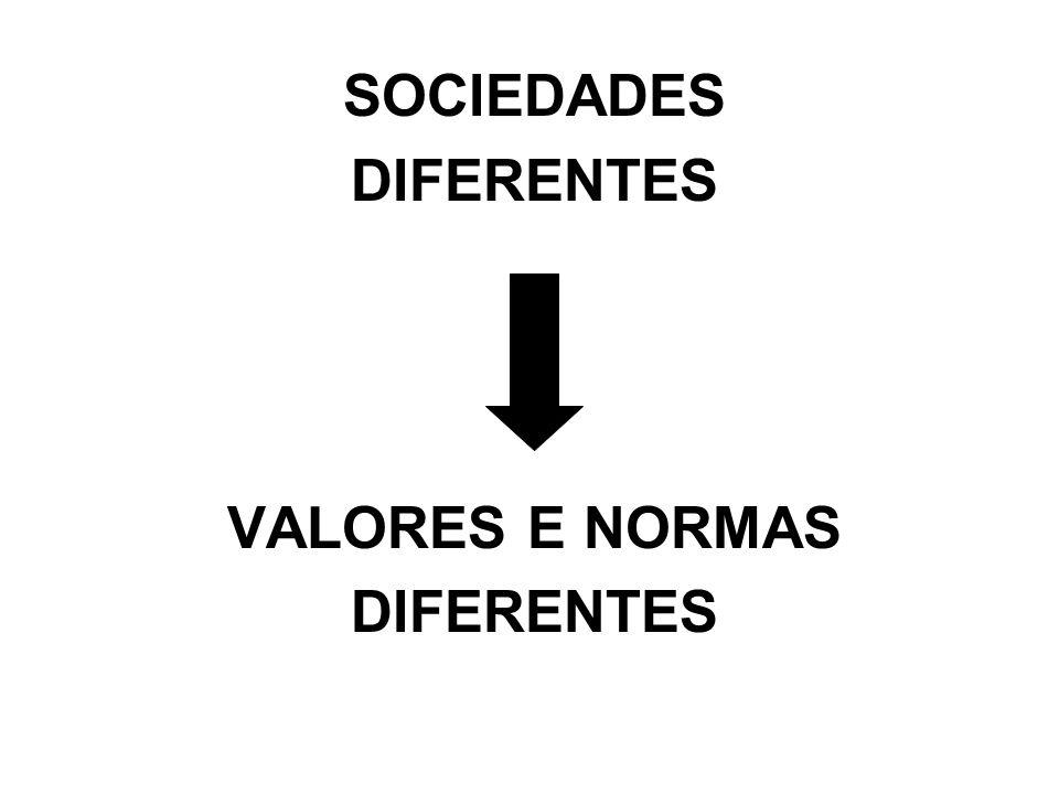SOCIEDADES DIFERENTES VALORES E NORMAS