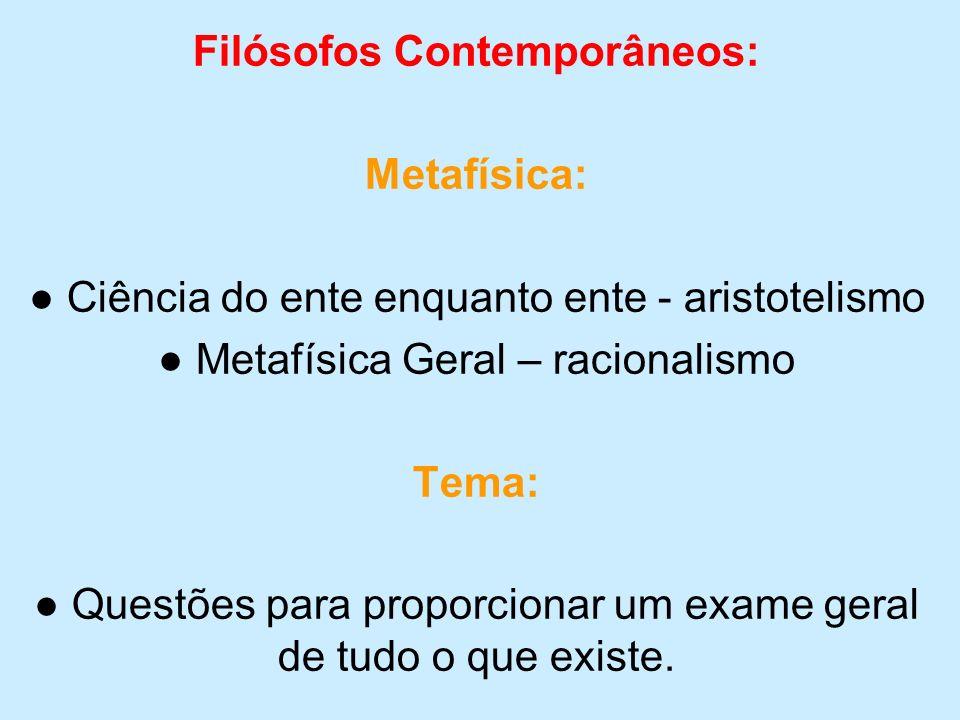 Filósofos Contemporâneos: