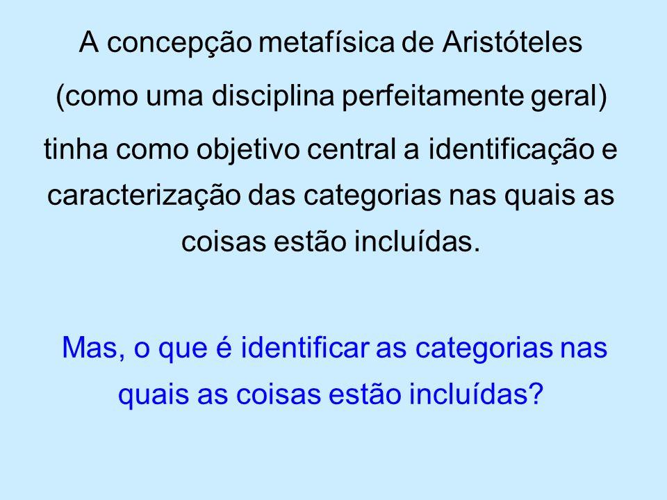 A concepção metafísica de Aristóteles