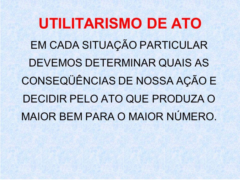 UTILITARISMO DE ATO