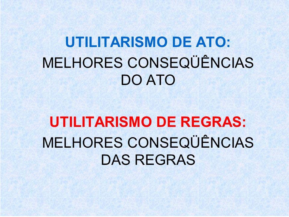 UTILITARISMO DE REGRAS: