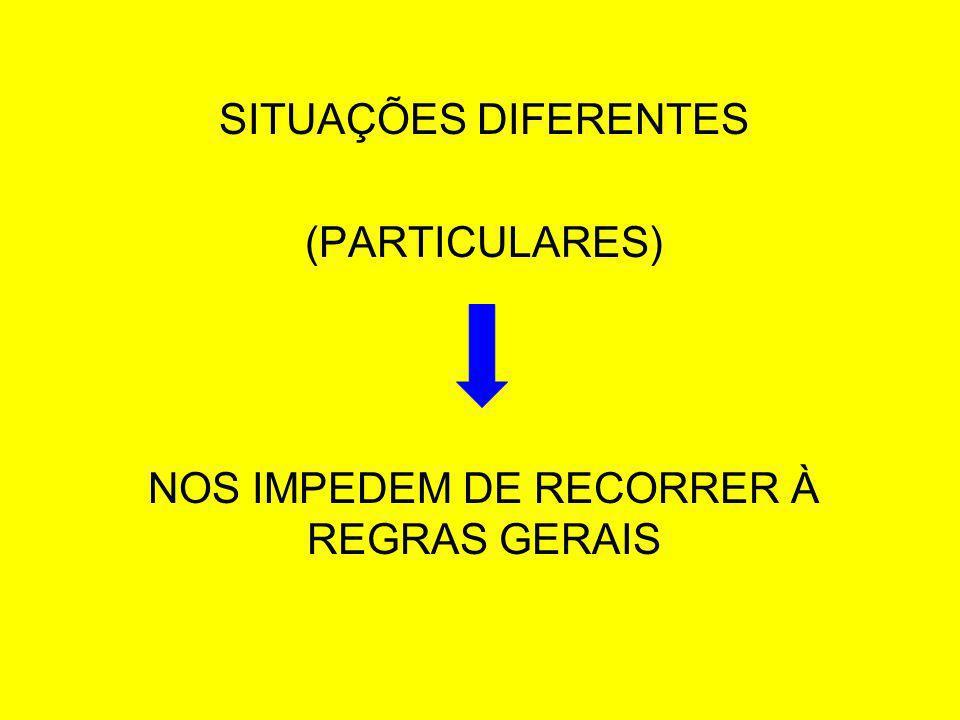 NOS IMPEDEM DE RECORRER À REGRAS GERAIS