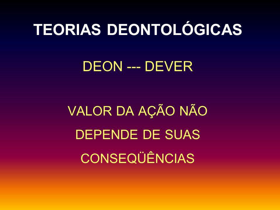 TEORIAS DEONTOLÓGICAS